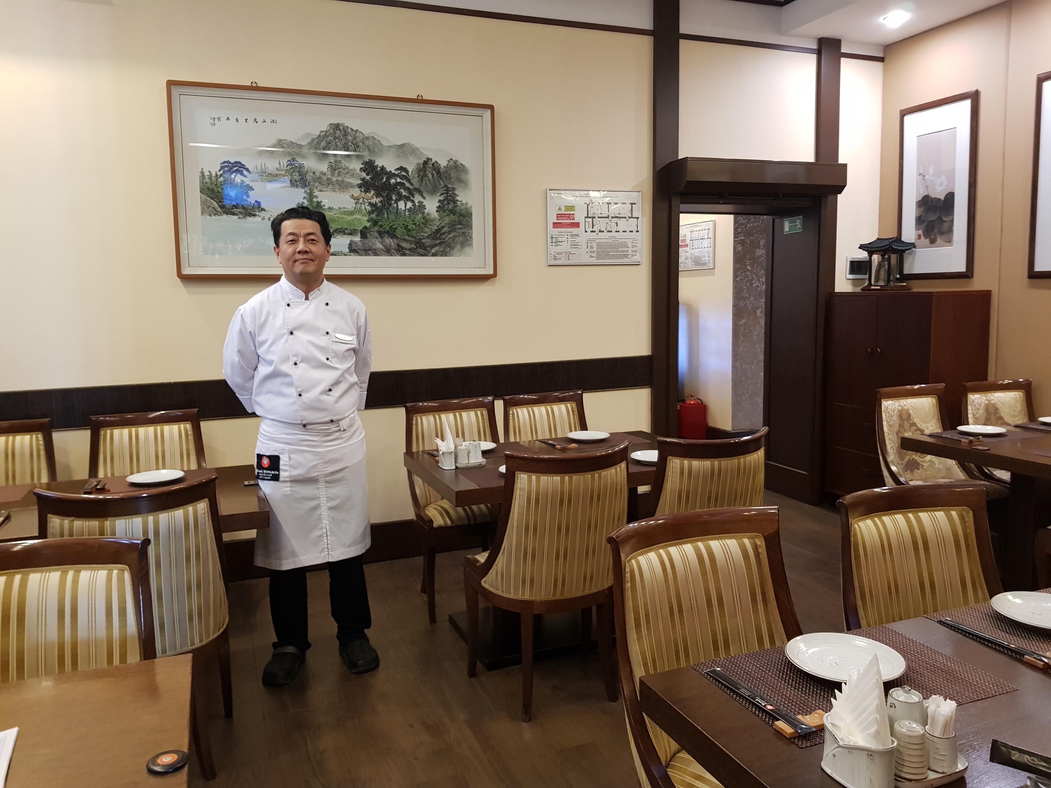 шеф повар корейского ресторана Белый Журавль
