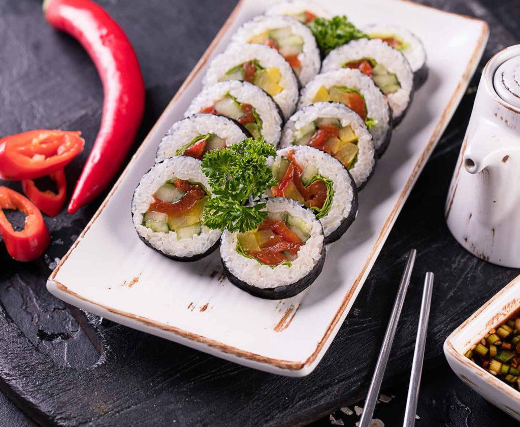Кимпаб яче / Kimpab with vegetables