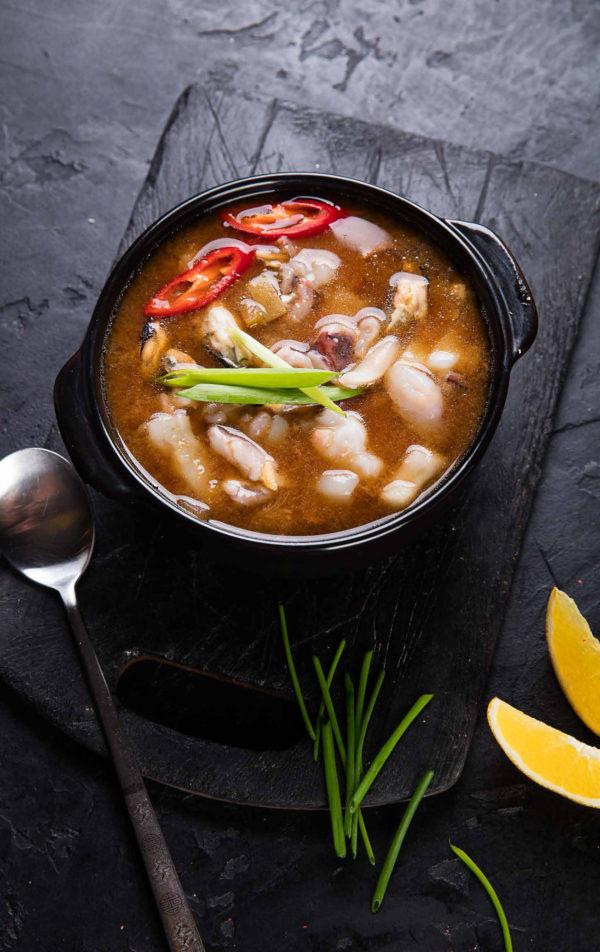 Твендян-тиге с морепродуктами / 된장찌개 / Tvendyanchige with seafood