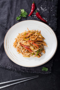 Лапша по-Китайски Вок с овощами и курицей
